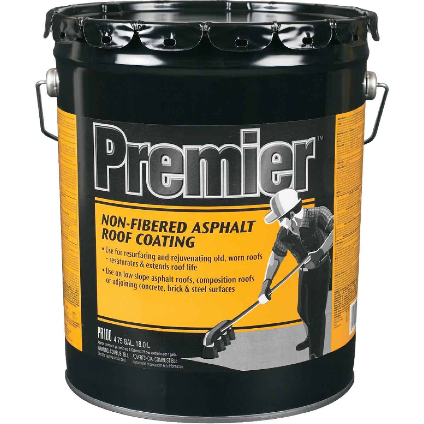 Premier 5 Gal. Non-Fibered Asphalt Roof Coating Image 1