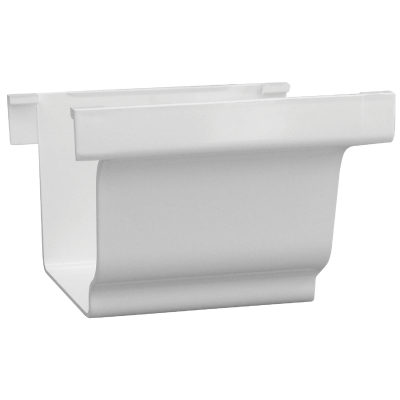 Repla K 5 In. Vinyl White Gutter Connector