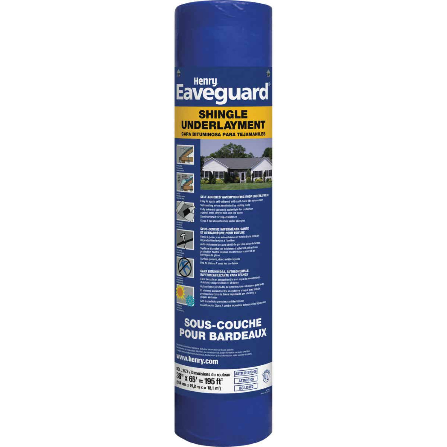 Henry Eaveguard 36 In. x 65 Ft. Shingle Underlayment Image 1