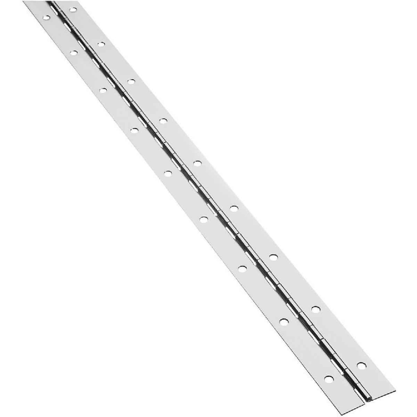 National Steel 1-1/2 In. x 48 In. Nickel Continuous Hinge Image 1