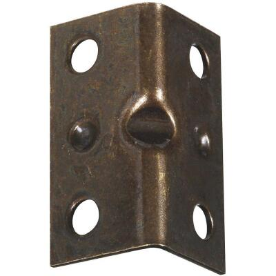 National Catalog V113 Series 1-1/2 In. x 3/4 In. Antique Brass Corner Brace (4-Count)