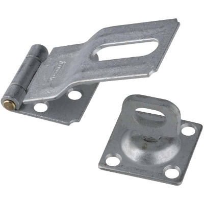 National 3-1/4 In. Galvanized Swivel Safety Hasp