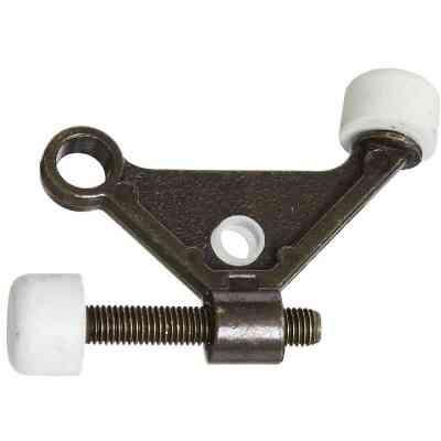 National Antique Brass Zinc Hinge Pin Door Stop