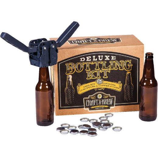 Craft A Brew Deluxe Beer Bottling Kit (10-Piece)