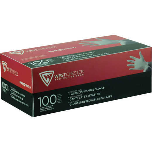 West Chester Protective Gear Posi Shield Small Industrial Grade Latex Disposable Glove (100-Pack)