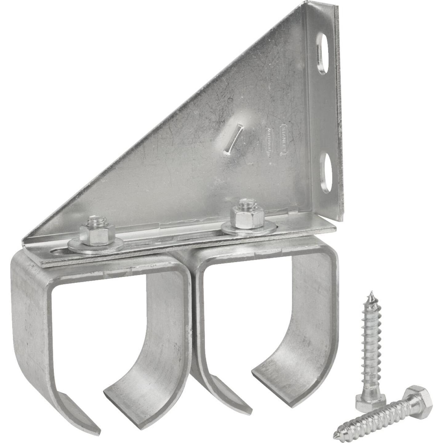 National Galvanized Double Round Rail Barn Door Bracket Image 2