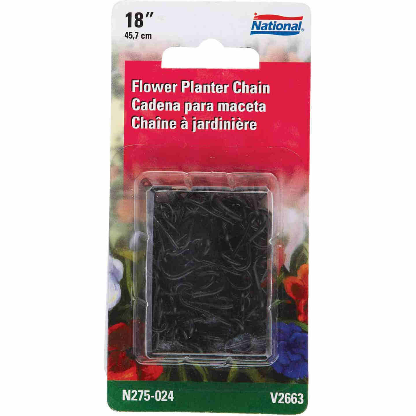 National V2663 18 In. Black Metal Hanging Plant Extension Chain Image 2