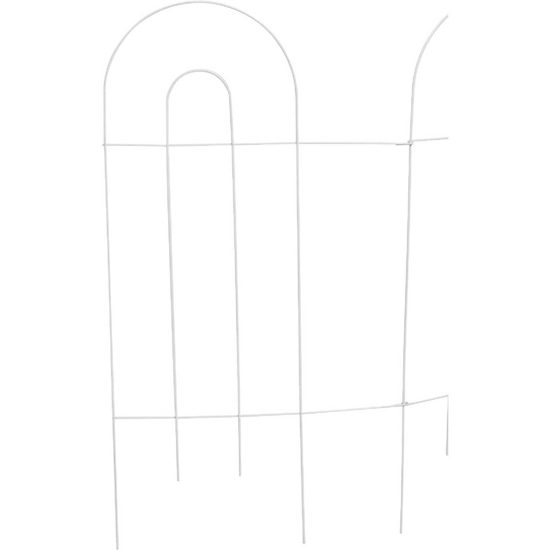Best Garden 10 Ft. Powder-Coated White Wire Folding Fence Image 3