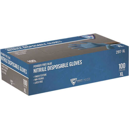 West Chester Protective Gear XL Nitrile Industrial Grade Disposable Glove (100-Pack)