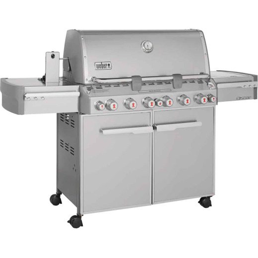 Weber Summit S-670 6-Burner Stainless Steel 60,000-BTU LP Gas Grill with 12,000-BTU Side -Burner