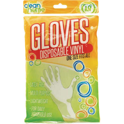 Clean Home Disposable Vinyl Gloves (10-Pack)